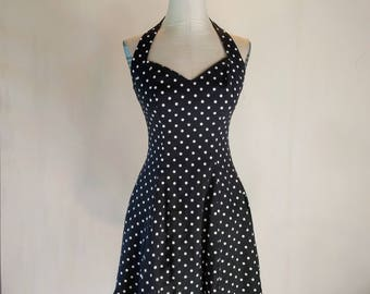 Polka Dot Sweetheart Halter Dress