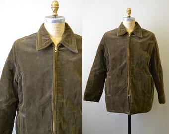 1970s Envoy Olive Green Corduroy Coat