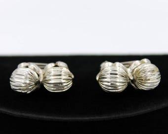 Silvertone Modernist Earrings, ca. 1960s