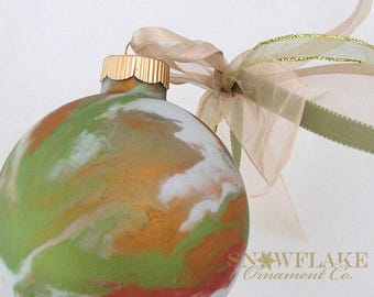 AUTUMN Custom Christmas Ornament - Personalized Glass Gift