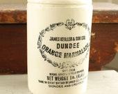 VIntage James Keiller & Son DUNDEE Orange Marmalade Jar Crock