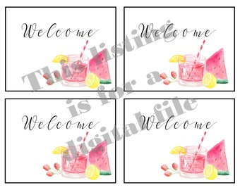 Plexus Welcome Note Cards, Printables