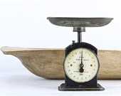 Vintage Kitchen Scale With Pan Antique Scale Black Scale Rustic Kitchen Scale Vintage Scale Old Scale Farmhouse Decor Old Scale Hughes