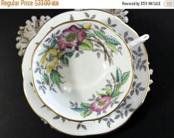 ON SALE Rosina Tea Cup, Vintage Cup and Saucer, English Bone China, Vintage Teacups 13101