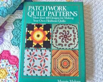 Vintage Quilt Pattern Book Maggie Malone Heirloom Quilt Design Patchwork Quilt Book ca. 1989