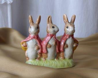 Vintage Beatrix Potter Flopsy Mopsy Cottontail Royal Albert 1989