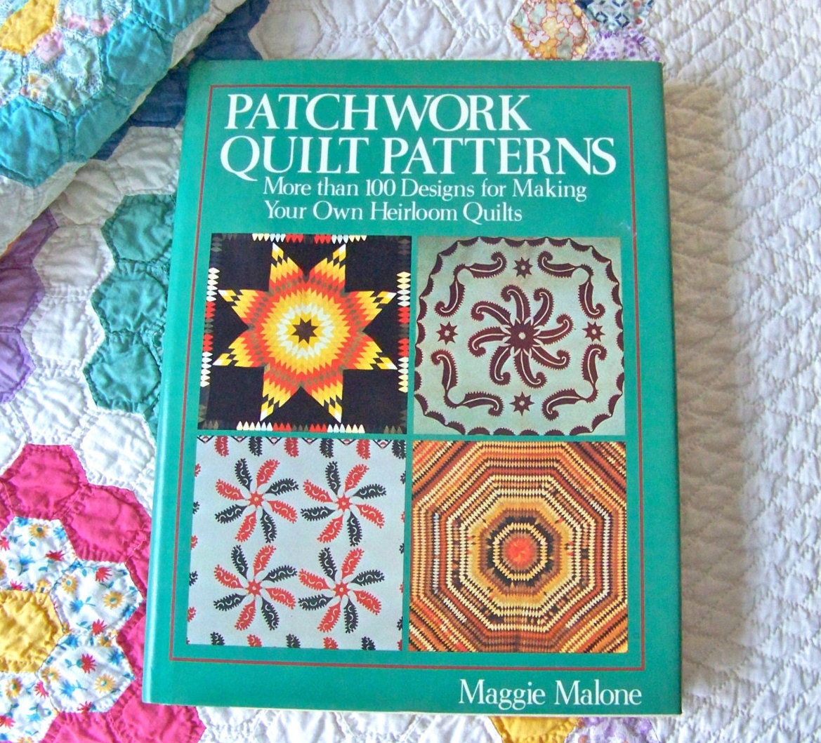 Vintage quilt pattern book maggie malone heirloom quilt for Patchwork quilt book