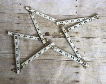 Vintage Folding Ruler - White and Black