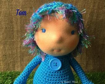 Tom - Woodland Imp - Crocheted Waldorf Doll