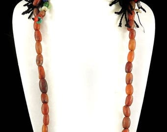 Tibetan Necklace Old Carnelian Delicate 30 inch 119561