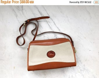 SALE Dooney and Bourke white and tan crossbody