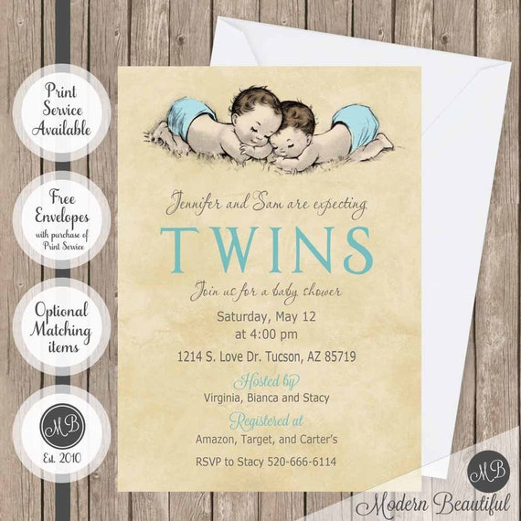 Twin boys invitation vintage baby shower twins invitation boy baby il570xn filmwisefo