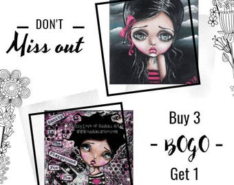 Oddball Art BOGO Deal You Choose the Art Buy Any 3 Get ONE for FREE