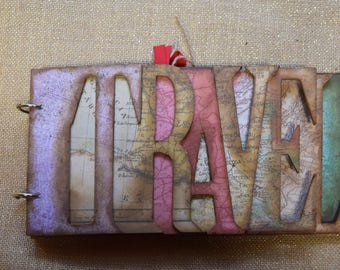 Handmade Travel Log Scrapbook Album