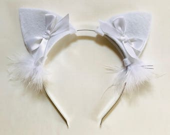 Playtime Cat Ears in White