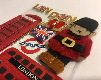 London Embellishments, Scrapbooking, Card Making, Travel Scrapbook, London Scrapbook, Embellishments, Stickers