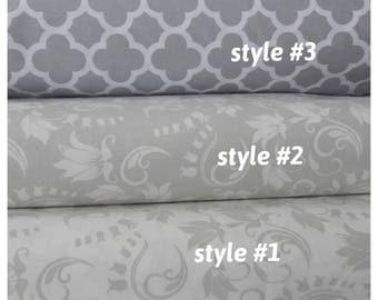Duvet cover oversized Queen 90x98 super King 110x96 120x98 shabby chic Bedding pastel subtle gray ivory Floral Turkish cotton Nurdanceyiz