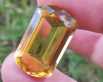 Madeira Citrine 23mm 19ct VIDEO LINK contemporary cut gemstone 23 by 13 by 8mm