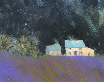 Original moorland cottage painting by Paul Bailey: Fferm gwyn