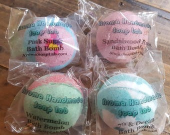 4 Bath Bombs choose your scent or surprise scents 2.5 oz