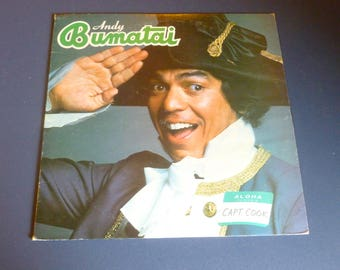 Andy Bumatai Aloha My Name Is Captain Cook Vinyl Record LP Bluewater Records 1980