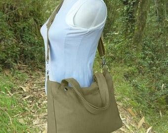 On Sale 20% off Olive messenger bag, shoulder bag, school bag, laptop bag