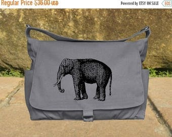 On Sale 20% off Gray canvas travel bag, luggage bag, printed school bag, cool shoulder bag, flap printed