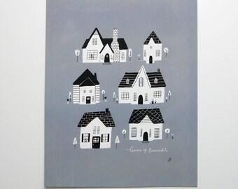 Houses of Beaverdale Des Moines Iowa 8x10 Print