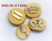 Gothic set of 4 molds- flexible silicone push mold / craft/ dessert/ mini food / resin/jewelry and more..