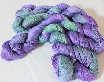 Mulberry silk hand dyed yarn