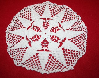 Vintage Hand Crocheted Doily- 7.5 inch