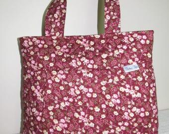 Pretty Floral Pleated Shoulder Bag
