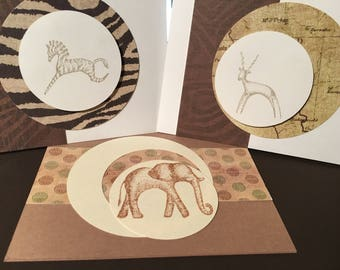 On Safari - set of 6 birthday cards
