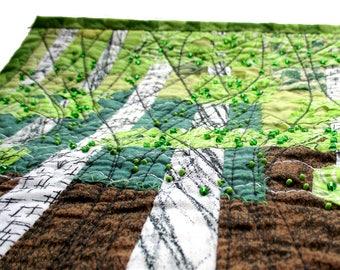 Birch forest textile wall art