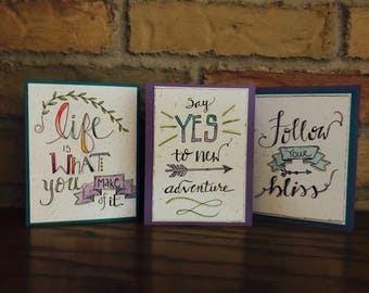 Inspirational Watercolor Greeting Cards