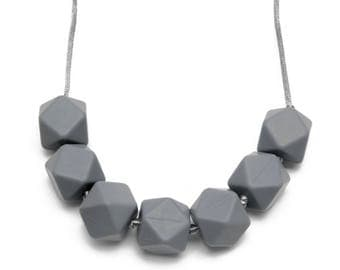 Teething Necklace - Gray
