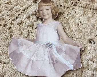 She Likes Her Dress And Isn't Afraid To Show It Vintage Cut Out Board Photo