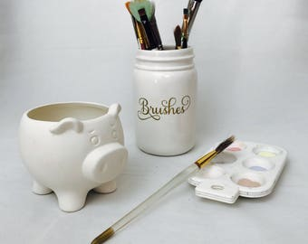 Paint Your Own Pottery PIG  | Kids Painting | Paint Your Own Pottery | Birthday Party | Handmade Ceramic from my Charleston, SC studio