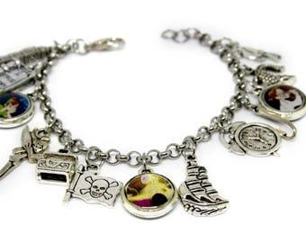 Peter Pan,charms bracelet,resin pendant,resin,Resin Bracelet,Resin Charms,Steinless Steel,Bracelets,Pendants