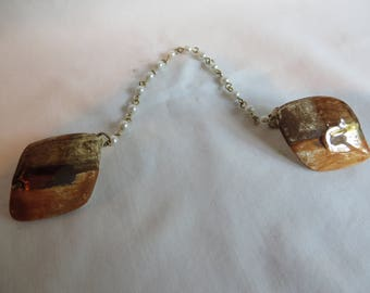 """8"""" Vintage Pearl Sweater Clip, vintage, pearl, rust"""