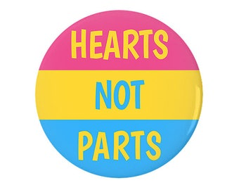 Hearts Not Parts Pinback Button