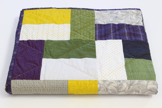 Masculine Patchwork Throw Quilt