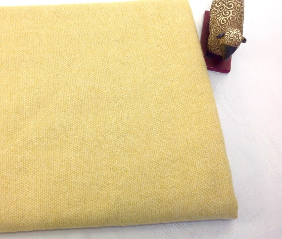 Fat 1/4 Yard, Daffodil Yellow, Mill Dyed Wool Fabric for Rug Hooking and Applique, W441, Sunny Yellow, Lemon Yellow