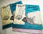 Vogart, Crochet Hankie Pak, Vintage Kit, Rare Vogart Pattern 497, Lot of Two, 1940's