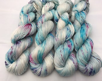 Carrie Cotton Fingering, Hand Dyed Yarn, Fingering Weight, Pima Cotton, Yarn, cotton yarn, hand dyed cotton, Photo Ready