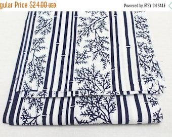 SALE 5 pieces Japanese Vintage Indigo Yukata Cotton. Fabric for Traditional Clothing. Hand Dyed Indigo.  (Ref: 1608D)