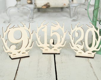 Antler Wedding Table Numbers