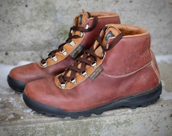 Beautiful 1987 waterproof Gore-Tex and leather hiking boots - Made in Italy by Vasque - Women's 7.5 - May fit smaller trans / male feet