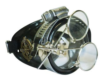 Steampunk monocle goggles glasses ViCTorian right side for burning man Halloween party novelty gcg costume accessory