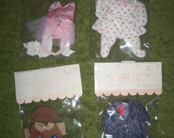 vintage, 1984, Jesco, Cameo dolls, 4 outfits, mint in package